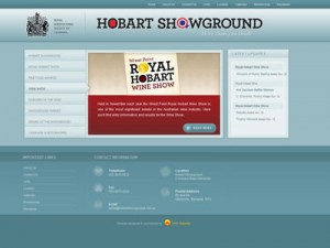Screen shot the Hobart Showground website