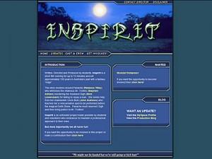 Inspirit Film Website Screen Shot