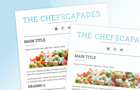 The Chefscapades – MailChimp Mailer Template