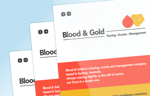 Blood and Gold – Landing Page