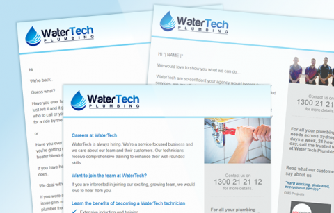 WaterTech Plumbing – MailChimp Mailer Templates