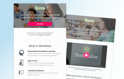 Membean – Teacher – MailChimp Templates