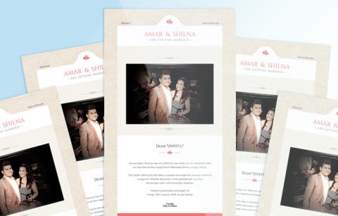 Mailchimp web design expert amar and shilnas wedding invite mailchimp template stopboris Image collections