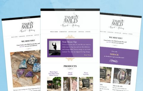ShopTamedWild eStore Newsletter – MailChimp Template