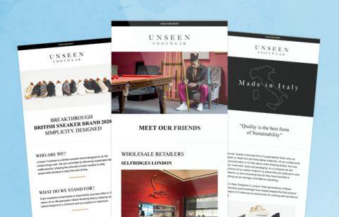 Unseen Footwear – MailChimp Template