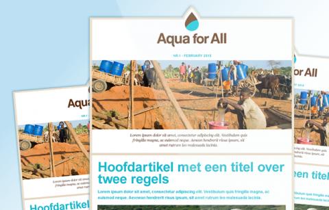 Aqua For All – MailChimp Template