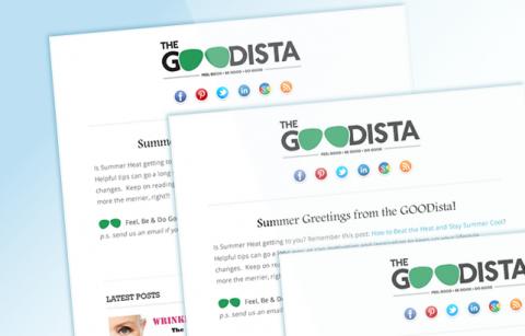 The GOODista – RSS MailChimp Template