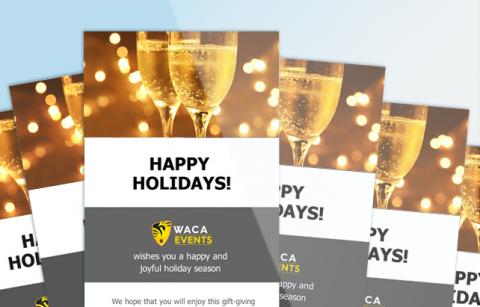 WACA – Holiday eCard – MailChimp Template