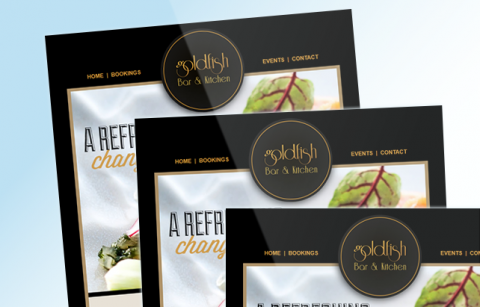 Goldfish Bar and Grill – MailChimp Template