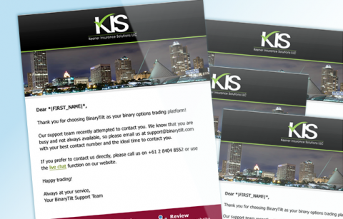 KIS – Mailer – MailChimp Template