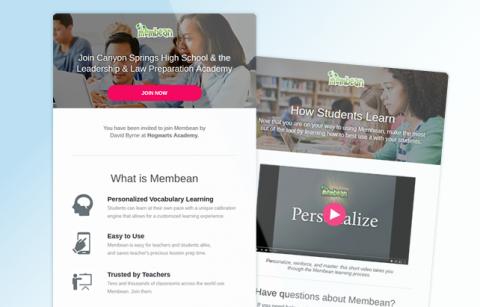 Membean – Teacher – MailChimp Templates