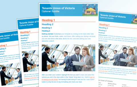 Tenants Union Victoria – MailChimp Template