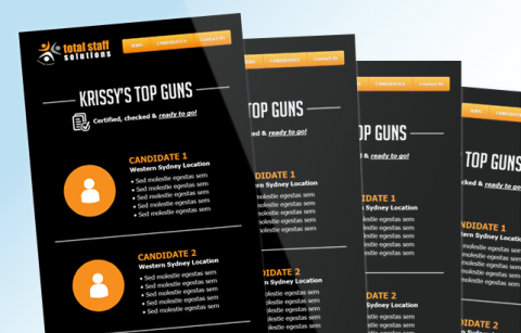 Chrissy's Top Guns – MailChimp Template