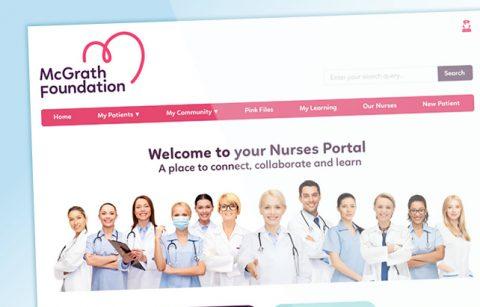 McGrath Foundation Nurses Portal Intranet