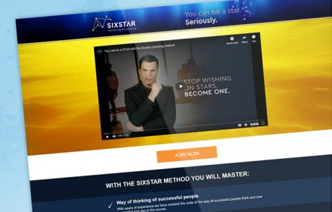 Sixstar – Sales Funnel – Landing Page
