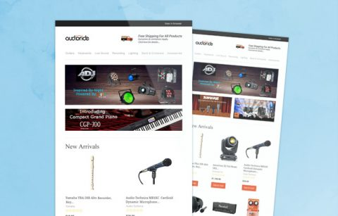 Audioride eStore Newsletter – MailChimp Template