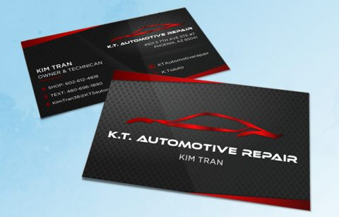 KTS Automative Repair – Business Card