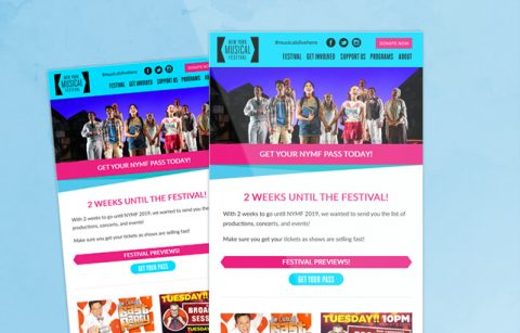 NYMF – Newsletter – MailChimp Template