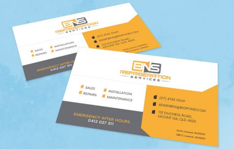 BNS Refrigeration – Business Card