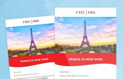 C`est la Visa – MailChimp Template