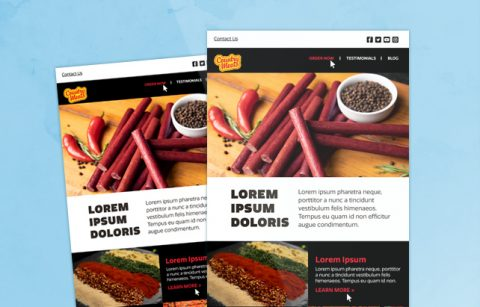 MailChimp Template – Country Meats